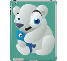 Polar bear with fish iPad Case/Skin