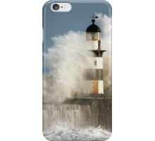 Waves Crashing Into A Lighthouse iPhone Case/Skin
