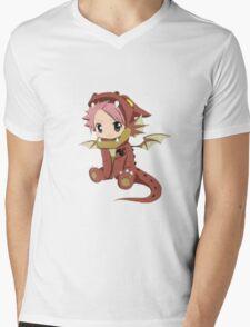 Natsu Dragneel (chibi) Mens V-Neck T-Shirt