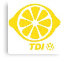 VW TDI Lemon Slice Yellow Canvas Print