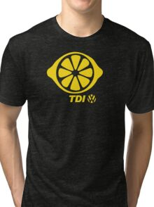 VW TDI Lemon Slice Yellow Tri-blend T-Shirt