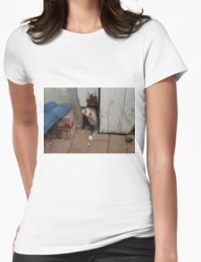 Ferret in autumn Womens Fitted T-Shirt
