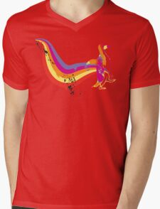 psychedelic Penguin Mens V-Neck T-Shirt