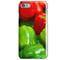 Green and Red Bell Peppers Tilt Shift iPhone Case/Skin