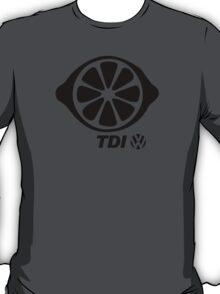 VW TDI Lemon Slice Black T-Shirt