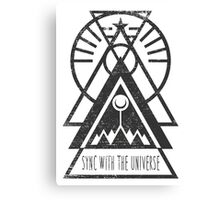 Sync with the Universe - Typography and Geometry Canvas Print