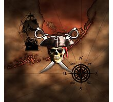 Pirate Map Photographic Print