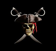 Pirate Skull And Swords by BailoutIsland