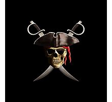 Pirate Skull And Swords Photographic Print
