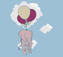 elephant balloons by redblackberries