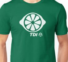 VW TDI Lemon Slice Black White Unisex T-Shirt