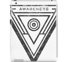 Awareness - Typography and Geometry iPad Case/Skin