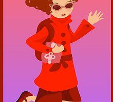 The Woman in Red by elledeegee