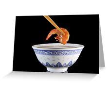 Thai Shrimp Greeting Card