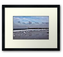 Wave Breakers Framed Print