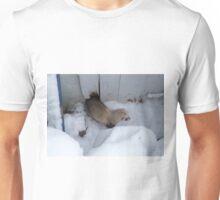 Ferret in snow Unisex T-Shirt