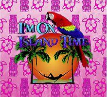 Island Time Pink Tiki by BailoutIsland