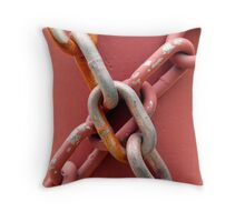 Linked in Pink Throw Pillow