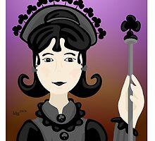 Queen of Clubs by elledeegee