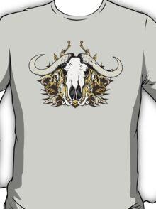 Buffalo Skull and Engraved Floral Detail - V2 T-Shirt