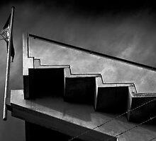 A.F.C. Flag Hindmarsh Stadium by Rob Beckett