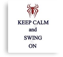 Keep Calm and Swing On Canvas Print