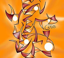 Abstract digital drawing - Abugila V4 by Cersatti