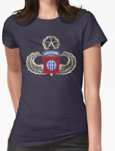 82nd Airborne Division Patch with Jumpwings. Womens Fitted T-Shirt