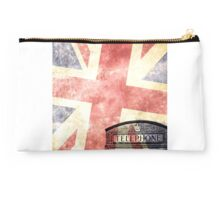British telephone box with Union Jack flag Studio Pouch