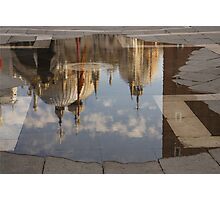 """Acqua Alta or """"High Water"""" Reflects St Mark's Cathedral in Venice Photographic Print"""