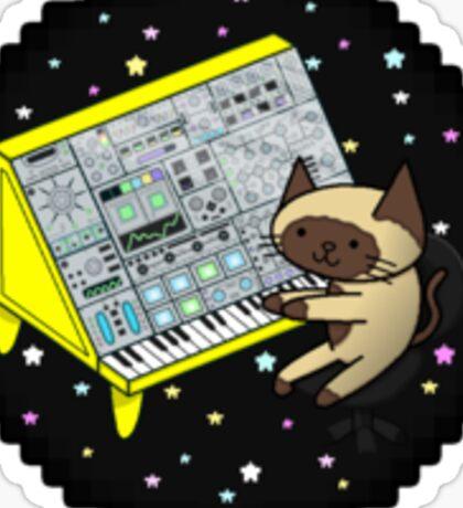Modular Synth Cat Sticker
