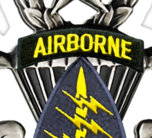 Special Forces patch on Master Jump Wings Sticker