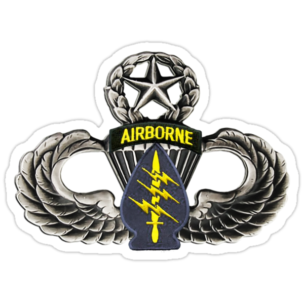 Special Forces patch on Master Jump Wings by Walter Colvin