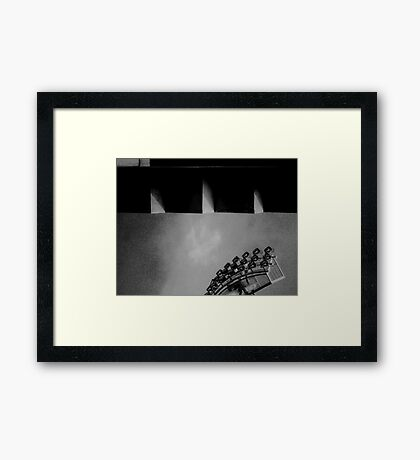 Stadium Lights Framed Print