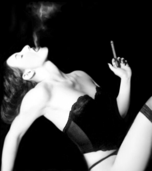 Smoke & Seduction - Self Portrait by Jaeda DeWalt