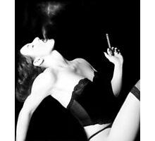 Smoke & Seduction - Self Portrait Photographic Print