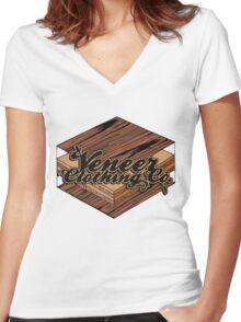 VENEER CROSS-SECTION Women's Fitted V-Neck T-Shirt
