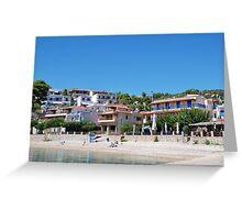 Rousoum beach, Alonissos Greeting Card