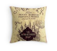 Map Harry potter castle, The Marauders Map Throw Pillow