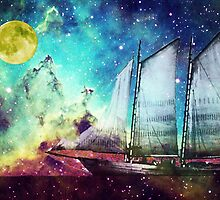 Galileo's Dream - Schooner Art By Sharon Cummings by Sharon Cummings