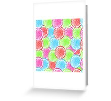 watercolor summer orange  Greeting Card
