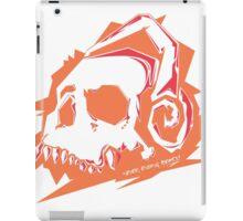 Bone Beats Orange iPad Case/Skin