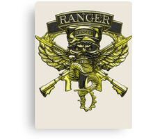 US Army Ranger Placard Canvas Print