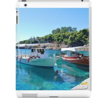 Rousoum harbour, Alonissos island iPad Case/Skin
