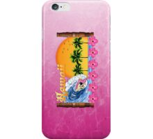 Pink Hawaiian Surfing iPhone Case/Skin