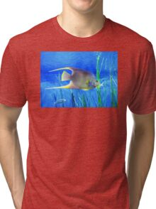 Into Blue - Tropical Fish by Sharon Cummings Tri-blend T-Shirt