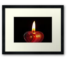 Candle heart 2 Framed Print