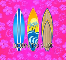 Pink Honu Born To Surf by BailoutIsland