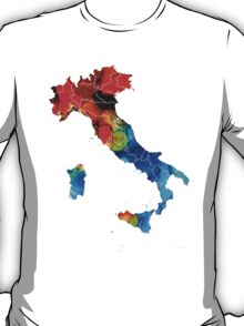 Italy - Italian Map By Sharon Cummings T-Shirt