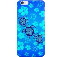 3 Hawaiian Honu And Hibiscus iPhone Case/Skin